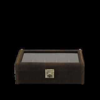 Friedrich Uhrenbox mit Sichtfenster Cubano XL - Braun 70021-327