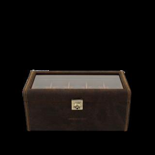 Friedrich Uhrenbox mit Sichtfenster Cubano XXL - Braun 70021-328