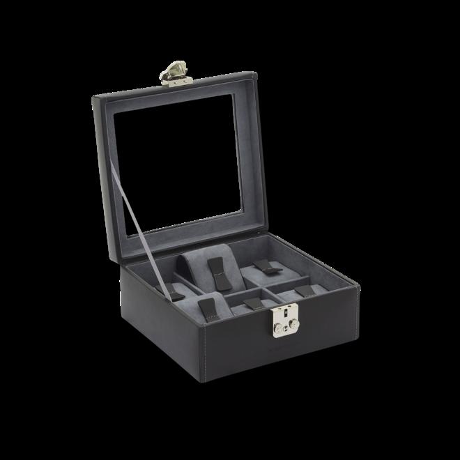 Friedrich Uhrenkasten Infinity 6 - Schwarz/Anthrazit aus Kalbsleder bei Brogle