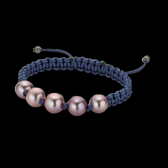Armband Gellner Basic aus 925 Sterlingsilber und Nylon mit 5 Süßwasser-Perlen bei Brogle