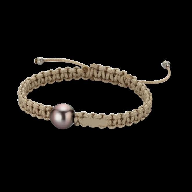 Armband Gellner Basic aus 925 Sterlingsilber und Nylon mit Tahiti-Perle bei Brogle