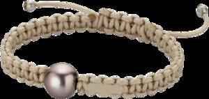 Armband Gellner Basic aus 925 Sterlingsilber und Nylon mit Tahiti-Perle