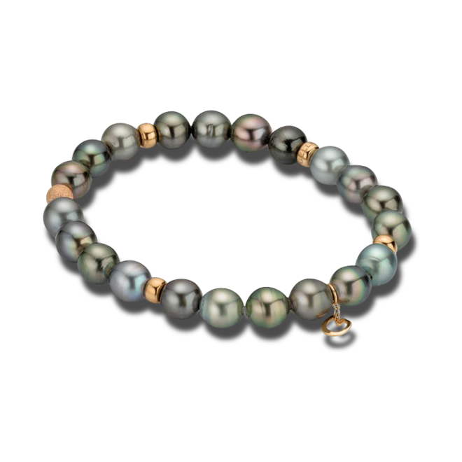 Armband Gellner Basic aus 750 Roségold mit 22 Tahiti-Perlen bei Brogle