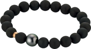Armband Gellner Basic PS aus 750 Roségold mit Tahiti-Perle und 20 Achaten Größe 18 cm