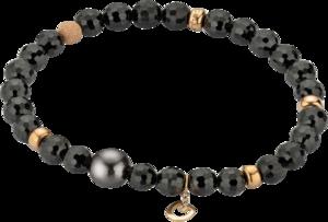 Armband Gellner Big Bang aus 750 Roségold mit Tahiti-Perle und mehreren Spinellen