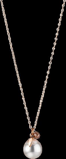 Halskette mit Anhänger Gellner Bolero aus 750 Roségold mit Südsee-Perle und 1 Diamant