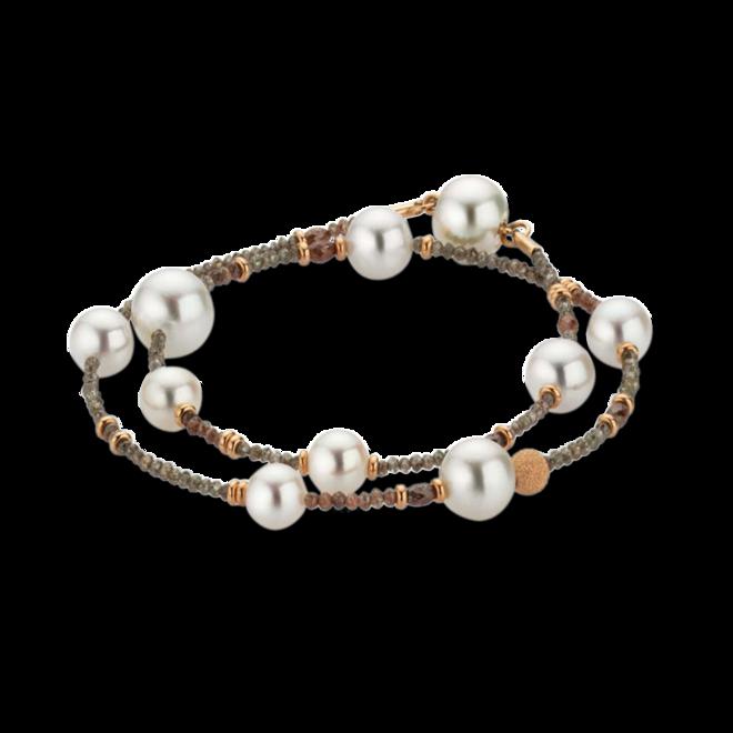 Armband Gellner Castaway aus 750 Roségold mit 7 Akoya-Perlen, 3 Südsee-Perlen und mehreren Diamanten (6,3 Karat) bei Brogle