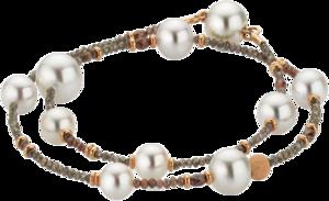 Armband Gellner Castaway aus 750 Roségold mit 7 Akoya-Perlen, 3 Südsee-Perlen und mehreren Diamanten (6,3 Karat)