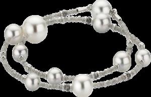 Armband Gellner Castaway aus 750 Weißgold mit 7 Akoya-Perlen, 3 Südsee-Perlen und mehreren Diamanten (6,707 Karat)