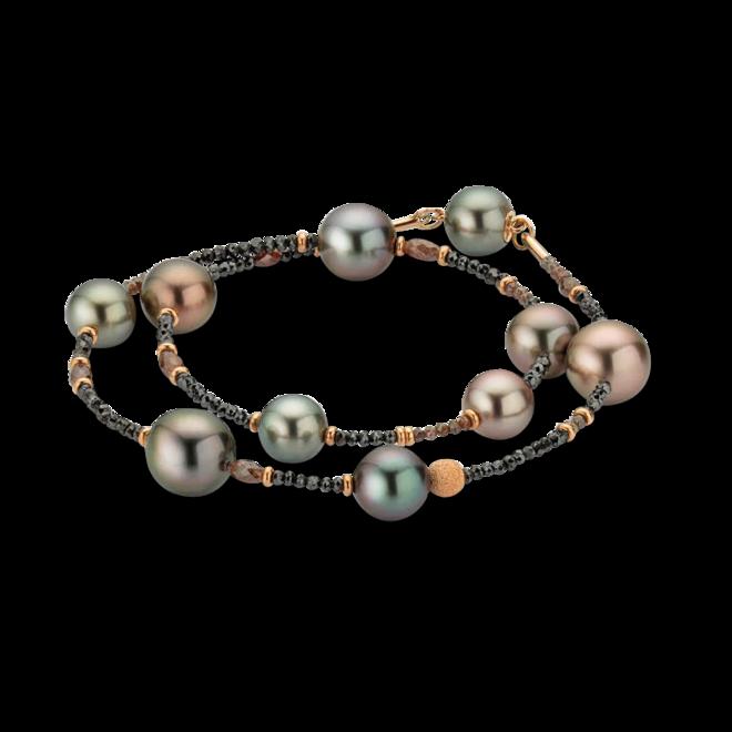 Armband Gellner Castaway Essentials aus 750 Roségold mit 10 Tahiti-Perlen und mehreren Diamanten (12,65 Karat) bei Brogle