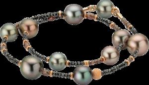 Armband Gellner Castaway Essentials aus 750 Roségold mit 10 Tahiti-Perlen und mehreren Diamanten (12,65 Karat)