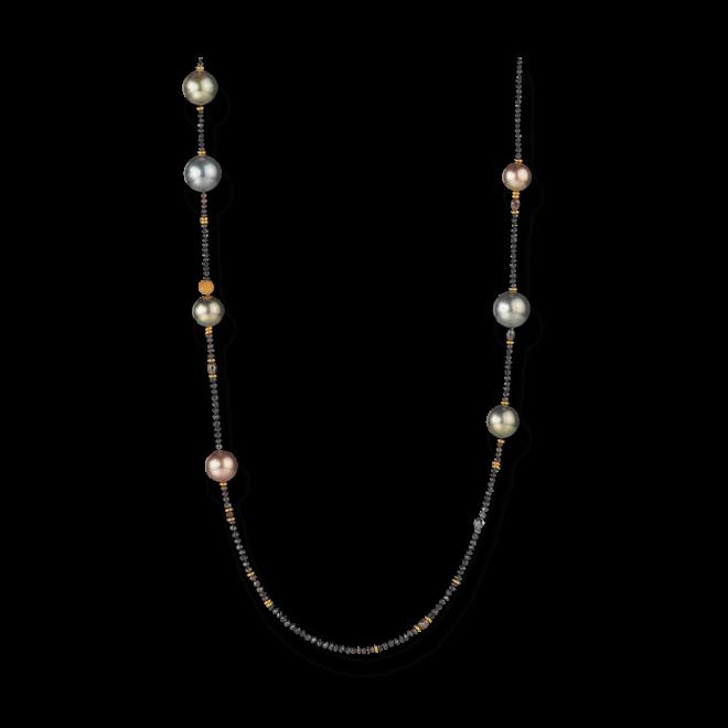 Halskette Gellner Castaway aus 750 Roségold mit Südsee-Perle, 13 Tahiti-Perlen und mehreren Diamanten (28,865 Karat) bei Brogle