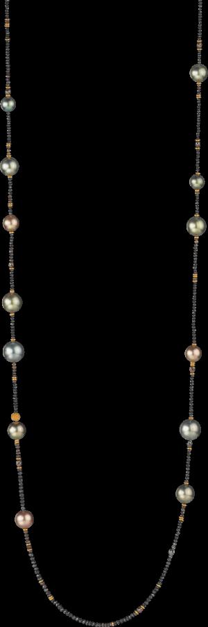 Halskette Gellner Castaway aus 750 Roségold mit Südsee-Perle, 13 Tahiti-Perlen und mehreren Diamanten (28,865 Karat)