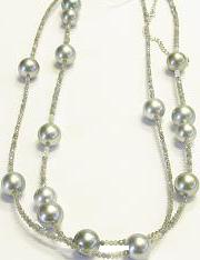 Halskette Gellner Castaway aus 925 Sterlingsilber mit 15 Tahiti-Perlen und mehreren Diamanten (22 Karat)