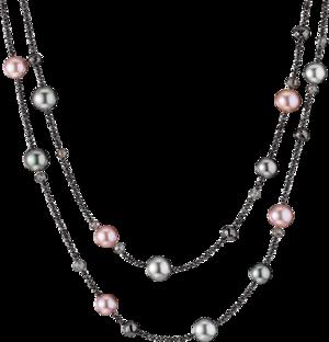 Halskette Gellner Castaway aus 750 Weißgold mit 6 Süßwasser-Perlen, 8 Tahiti-Perlen und mehreren Diamanten (75,645 Karat)
