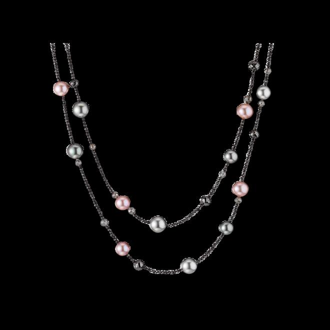 Halskette Gellner Castaway aus 750 Weißgold mit 6 Süßwasser-Perlen, 8 Tahiti-Perlen und mehreren Diamanten (75,645 Karat) bei Brogle