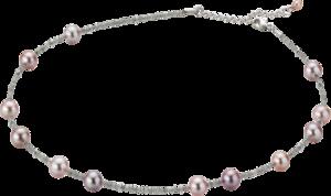 Halskette Gellner Castaway aus 750 Weißgold mit 13 Süßwasser-Perlen und mehreren Diamanten (7,155 Karat)