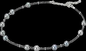 Halskette Gellner Castaway aus 750 Weißgold mit 13 Tahiti-Perlen und mehreren Diamanten (7,56 Karat)