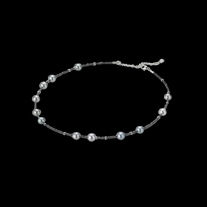 Halskette Gellner Castaway aus 750 Weißgold mit 13 Tahiti-Perlen und mehreren Diamanten (7,56 Karat) bei Brogle