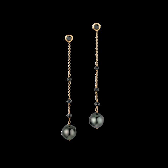 Ohrhänger Gellner Castaway aus 750 Gelbgold und 750 Roségold mit 2 Tahiti-Perlen und 3 Brillanten (2 x 0,552 Karat) bei Brogle