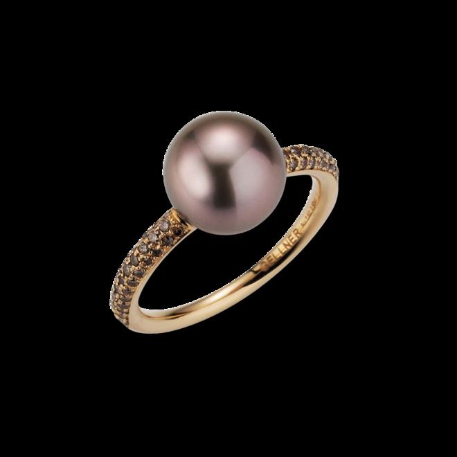 Ring Gellner Modern Classic aus 750 Roségold mit Tahiti-Perle und 70 Brillanten (0,504 Karat) bei Brogle