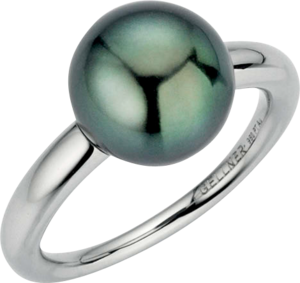 Ring Gellner Modern Classic aus 950 Platin mit Tahiti-Perle