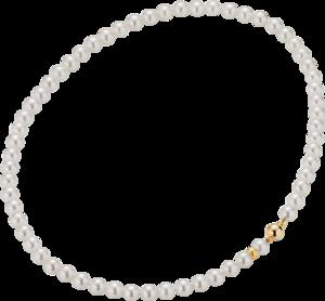 Halskette Gellner Basic aus 750 Gelbgold mit 60-62 Akoya-Perlen