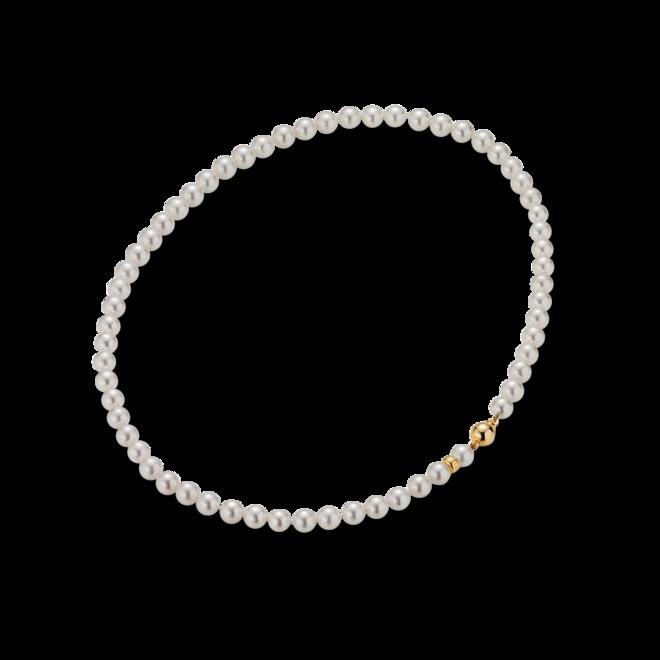 Halskette Gellner Basic aus 750 Gelbgold mit 60-62 Akoya-Perlen bei Brogle