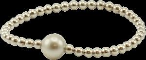 Armband Gellner Flex aus 925 weißes Silber mit Tahiti-Perle