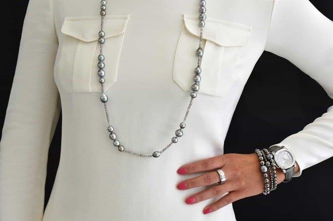 Armband Gellner Flex aus 925 Sterlingsilber mit Tahiti-Perle bei Brogle