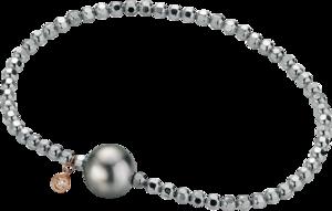 Armband Gellner Flex aus 925 Sterlingsilber und 750 Roségold mit Tahiti-Perle und 1 Brillant (0,046 Karat)