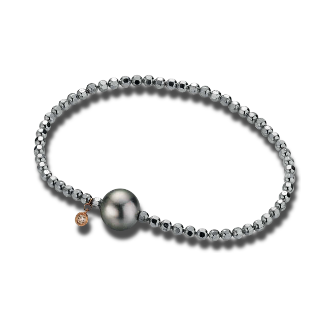Armband Gellner Flex aus 925 Sterlingsilber und 750 Roségold mit Tahiti-Perle und 1 Brillant (0,046 Karat) bei Brogle