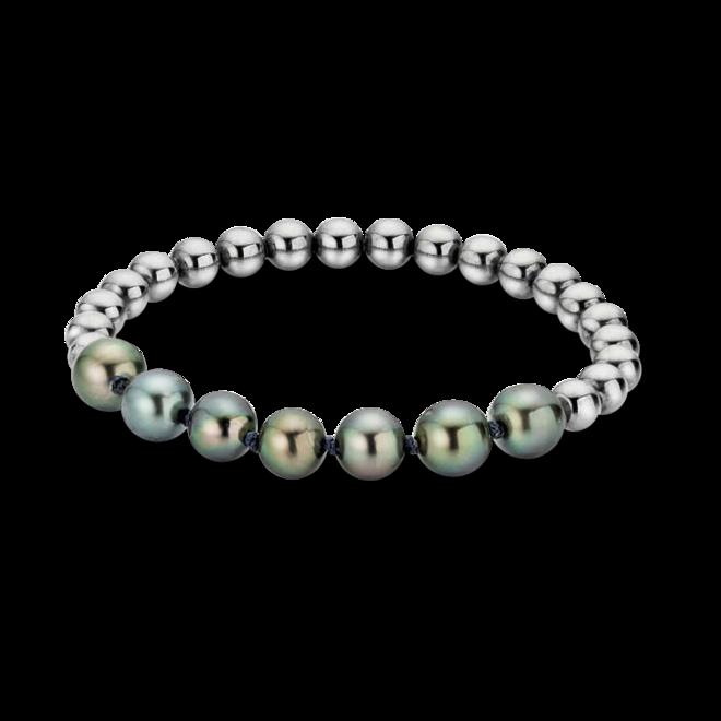 Armband Gellner Flex aus 925 Sterlingsilber und Edelstahl mit 7 Tahiti-Perlen bei Brogle