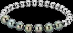 Armband Gellner Flex aus 925 Sterlingsilber und Edelstahl mit 7 Tahiti-Perlen