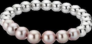 Armband Gellner Flex aus 925 weißes Silber mit 7 Süßwasser-Perlen