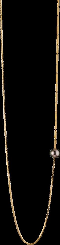 Halskette mit Anhänger Gellner Fuse aus 925 weißes Silber und 925 Sterlingsilber mit Tahiti-Perle