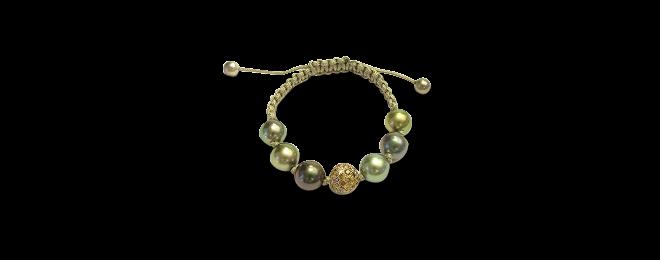 Armband Gellner H2O aus 750 Roségold und 750 Gelbgold mit 8 Tahiti-Perlen und 91 Brillanten (2,46 Karat) bei Brogle