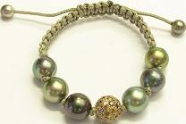 Armband Gellner H2O aus 750 Roségold und 750 Gelbgold mit 8 Tahiti-Perlen und 91 Brillanten (2,46 Karat)