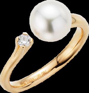 Ring Gellner H2O aus 750 Roségold mit Akoya-Perle und 1 Diamant (0,08 Karat)