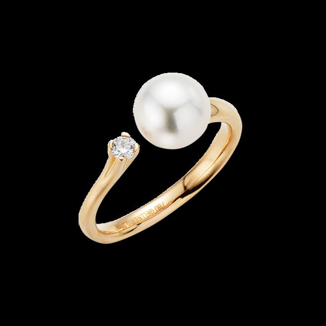 Ring Gellner H2O aus 750 Roségold mit Akoya-Perle und 1 Diamant (0,08 Karat) bei Brogle