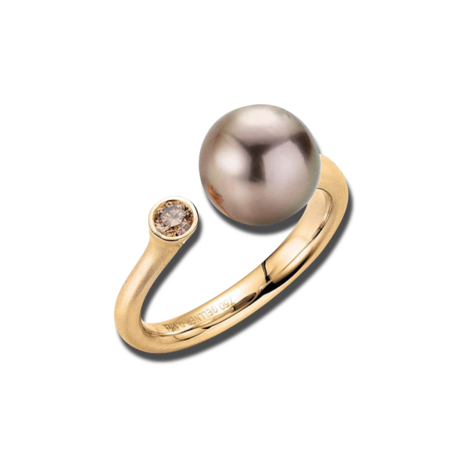 Ring Gellner H2O aus 750 Roségold mit Tahiti-Perle und 1 Brillant (0,12 Karat) bei Brogle
