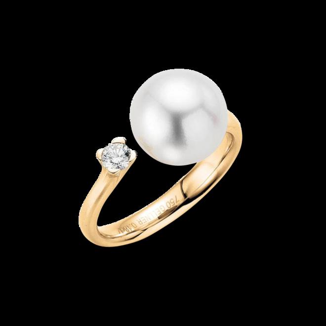 Ring Gellner H2O aus 750 Roségold mit Südsee-Perle und 1 Brillant (0,18 Karat) bei Brogle