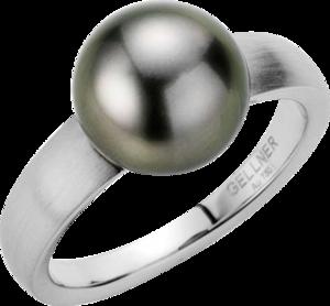 Ring Gellner H2O aus 750 Weißgold mit Tahiti-Perle Größe 58