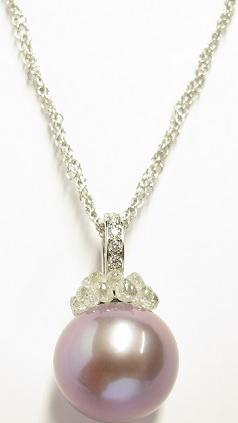 Halskette mit Anhänger Gellner Rendezvous aus 750 Weißgold mit Süßwasser-Perle und mehreren Diamanten (3,53 Karat)