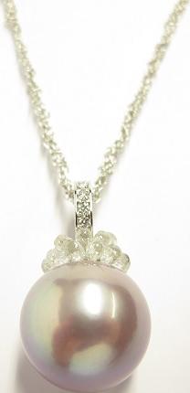 Halskette mit Anhänger Gellner Rendezvous aus 750 Weißgold mit Süßwasser-Perle und mehreren Diamanten (3,62 Karat)