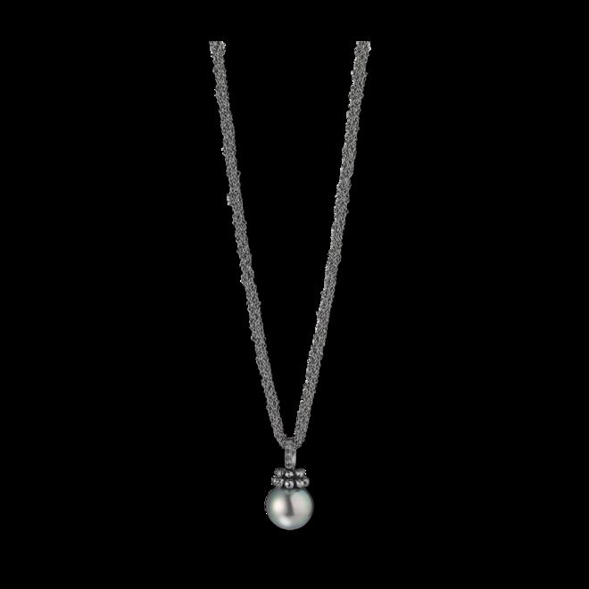 Halskette mit Anhänger Gellner Rendevouz aus 925 Sterlingsilber und 750 Weißgold mit Tahiti-Perle und 10 Brillanten (0,17 Karat) bei Brogle