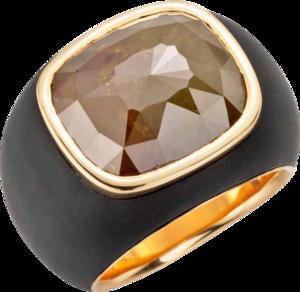 Ring Gellner Stars in Heaven aus ionenbeschichteter Edelstahl und 750 Roségold mit 1 Diamant (11,347 Karat)