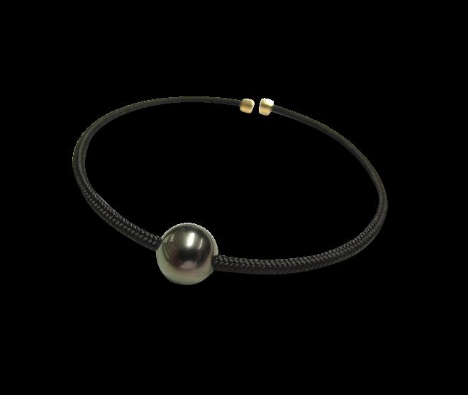 Armspange Gellner Vivid aus 925 Sterlingsilber, 750 Roségold und Nylon mit Tahiti-Perle bei Brogle