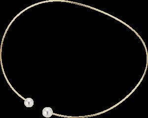 Halsreif Gellner Wired aus 750 Roségold mit 2 Süßwasser-Perlen