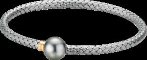 Armband Gellner Wired XL aus 925 Sterlingsilber und 750 Roségold mit Tahiti-Perle Größe L